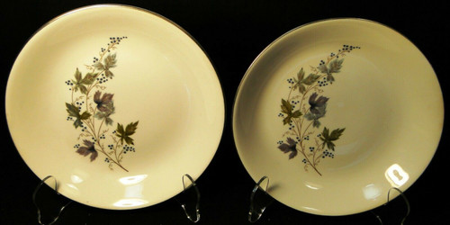 """Homer Laughlin Triumph Moselle Cereal Bowls 7 1/2"""" Green Blue Set of 2 Excellent"""