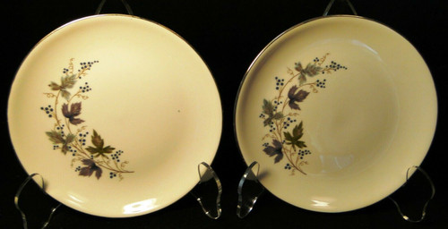"""Homer Laughlin Triumph Moselle Bread Plates 6"""" Green Blue Set of 2 Excellent"""