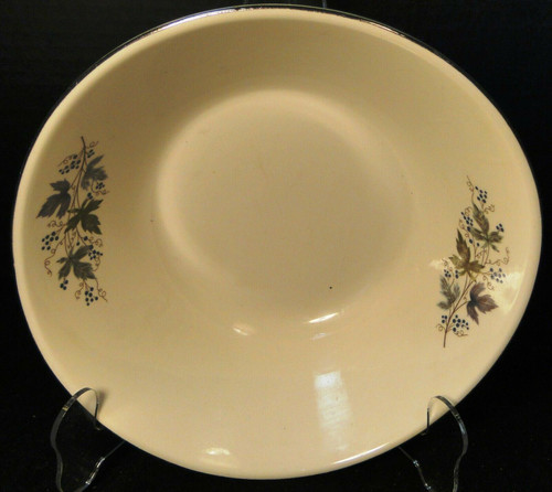"""Homer Laughlin Triumph Moselle Round Serving Bowl 8 1/4"""" Green Blue Excellent"""
