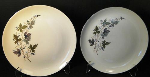 "Homer Laughlin Triumph Moselle Dinner Plates 10 1/4"" Green Blue Set 2 Excellent"