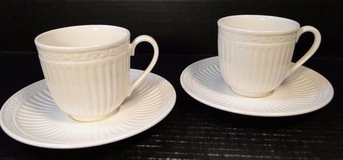 Mikasa Italian Countryside Tea Cup Mug Saucer Sets DD900 Set of 2 MINT