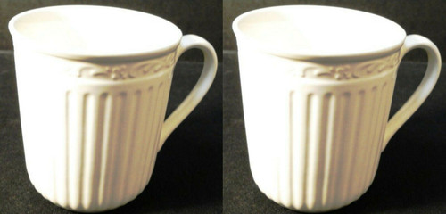 """Mikasa Italian Countryside Coffee Mugs Cups 3 3/4"""" Tall DD900 Set of 2 Excellent"""