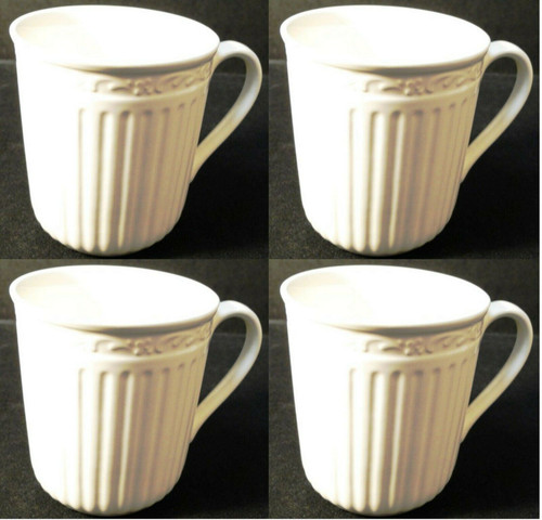 """Mikasa Italian Countryside Coffee Mugs Cups 3 3/4"""" Tall DD900 Set of 4 Excellent"""