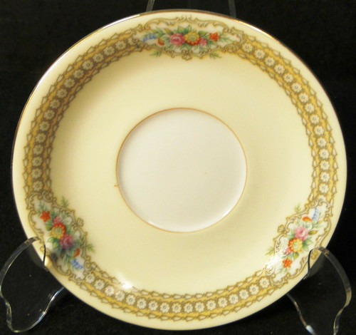 """Noritake Rodista Saucer 5 1/2"""" 590 Floral Band Yellow Excellent"""
