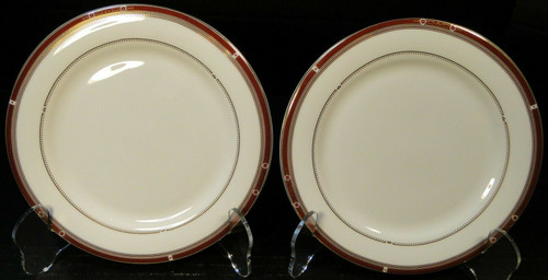 """Syracuse China Barrymore Bread Plates 6 1/2"""" Bone China Set of 2 Excellent"""