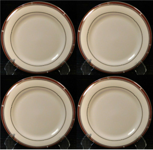 """Syracuse China Barrymore Bread Plates 6 1/2"""" Bone China Set of 4 Excellent"""