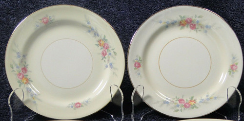 """Homer Laughlin Eggshell Nautilus Ferndale Bread Plates 6 1/8"""" Set of 2 