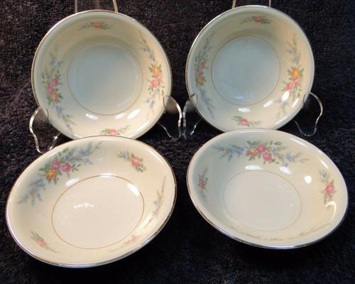 "Homer Laughlin Eggshell Ferndale Berry Fruit Bowls 5 1/4"" (Set of 4) | DR Vintage Dinnerware Replacements"