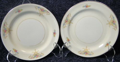 Homer Laughlin Eggshell Nautilus Rochelle Bread Plates Set of 2 | DR Vintage Dinnerware Replacements