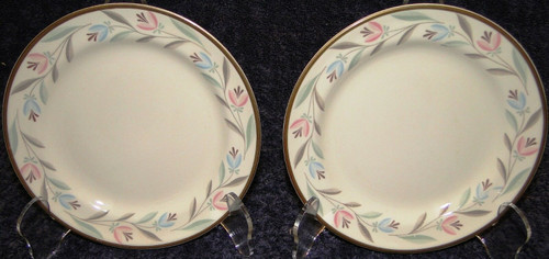 Homer Laughlin Eggshell Nautilus Nantucket Bread Plates 6 1/8 Set of 2 | DR Vintage Dinnerware Replacements