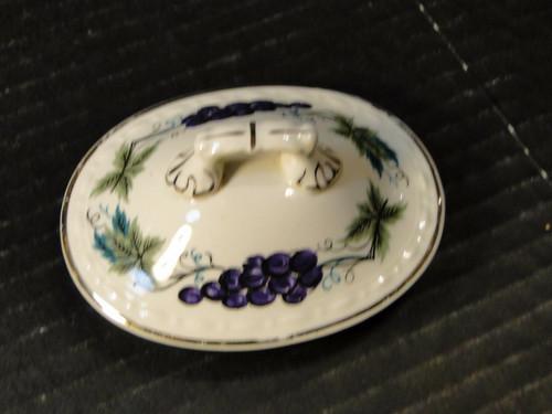 Homer Laughlin Eggshell Georgian Grapes Leaves Lid Sugar Just Lid HLC2376 | DR Vintage Dinnerware Replacements