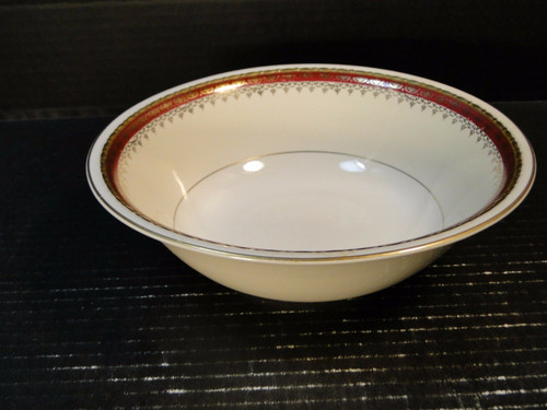 """Homer Laughlin Monarch Round Serving Bowl 8 1/2"""" Eggshell Georgian 