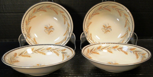 "Homer Laughlin Eggshell Georgian Kingston Berry Bowls 5 1/4"" G3459 Set of 4 | DR Vintage Dinnerware Replacements"