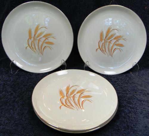 "Homer Laughlin Golden Wheat Dinner Plates 9 1/4"" Set of 4 