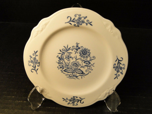 Homer Laughlin Virginia Rose Dresden Imperial Blue Dessert Plate 71/8"