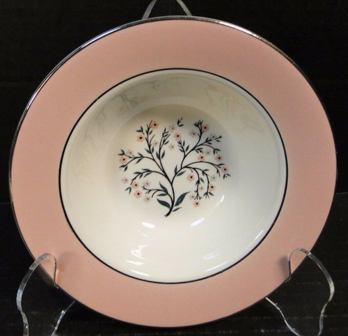 "Homer Laughlin Cavalier  Springtime Berry Bowl 6"" CV32 Pink Fruit 