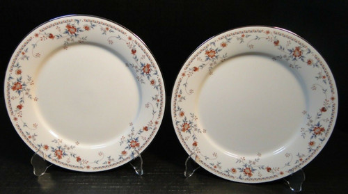 """Noritake Adagio Salad Plates 7237 8 3/8"""" Set of 2 