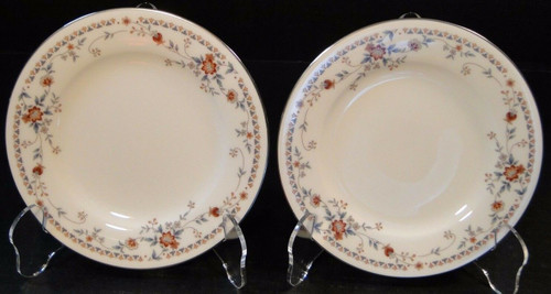 """Noritake Adagio Bread Plates 7237 6 3/8"""" Set of 2 