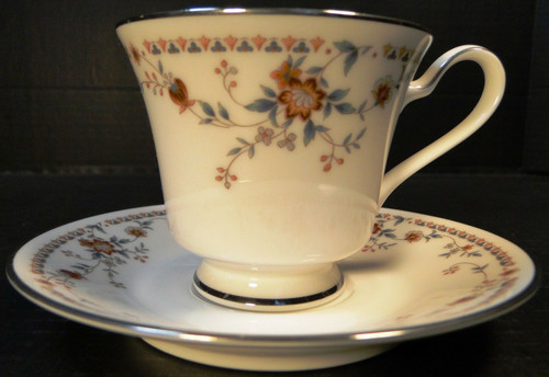Noritake Adagio Tea Cup Saucer Set  7237 | DR Vintage Dinnerware and Replacements