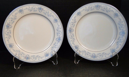 "Noritake Blue Hill Salad Plates 2482 8 1/4"" Set of 2 
