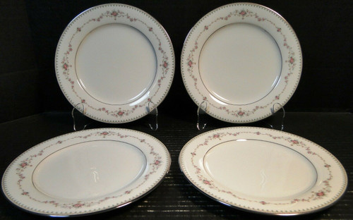 """Noritake Fairmont Salad Plates 6102 8 1/4"""" Set of 4 