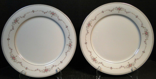 """Noritake Fairmont Dinner Plates 6102 10 1/2"""" Set of 2 