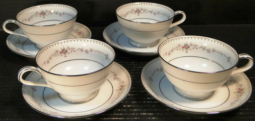 Noritake Fairmont Tea Cups Saucer Sets 6102 4 | DR Vintage Dinnerware and Replacements
