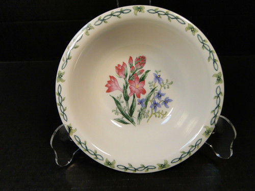 Thomson Pottery Floral Garden Pink Crocus Soup Bowl Cereal 7"