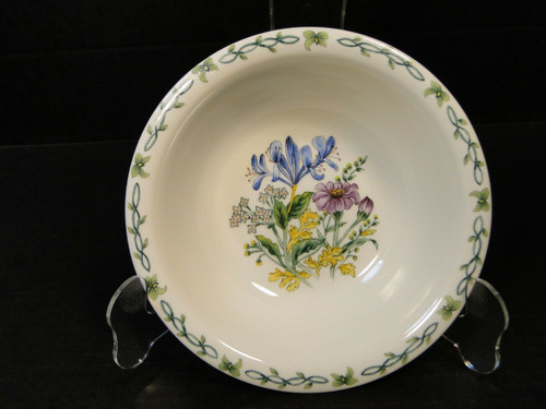 Thomson Pottery Floral Garden Iris Soup Bowl Cereal 7"