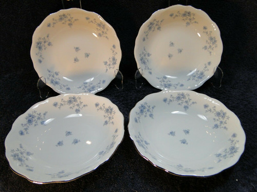 Johann Haviland Bavaria Blue Garland Soup Bowls Salad 7 1/2 Set of 4 | DR Vintage Dinnerware and Replacements
