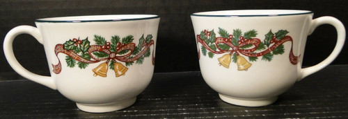 Johnson Brothers Victorian Christmas England Tea Cups Set of 2 | DR Vintage Dinnerware and Replacements