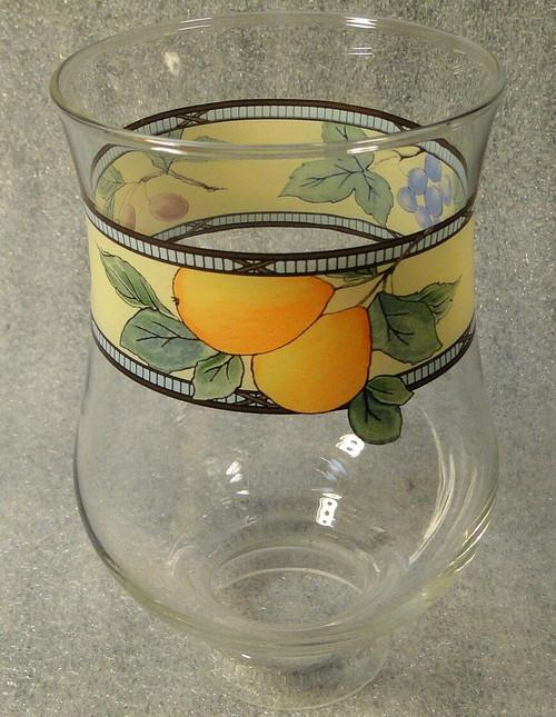 "Mikasa Garden Harvest Glass Votive Globe Hurricane Lamp 4 1/2"" CAC29  | DR Vintage Dinnerware Replacements"