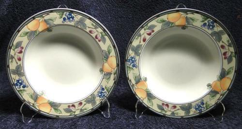 "Mikasa Garden Harvest Soup Bowls Pasta 9 1/2"" CAC29 | DR Vintage Dinnerware Replacements"