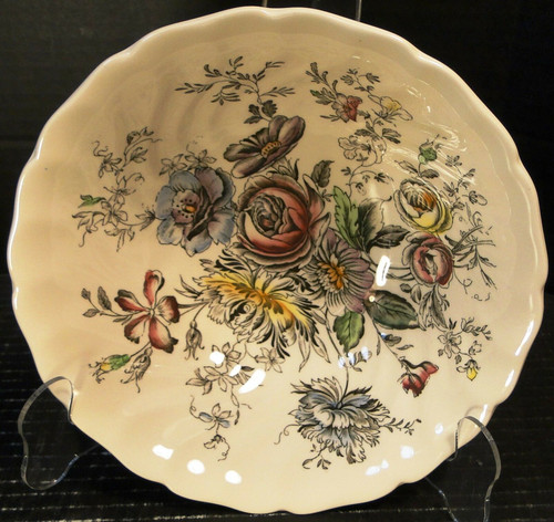 "Johnson Brothers Sheraton Round Vegetable Bowl 8 1/4"" Floral England 