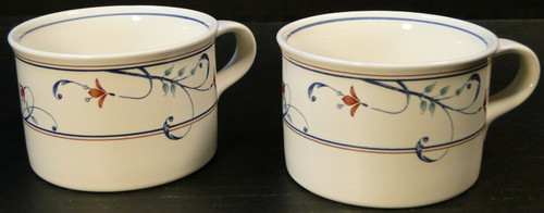 Mikasa Annette Intaglio Cups Mugs Coffee Tea CAC20 Set of 2 | DR Vintage Dinnerware Replacements