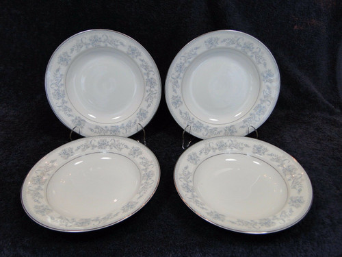 "Mikasa Dresden Rose Soup Cereal Pasta Bowls L9009 8 3/8"" Set of 4 