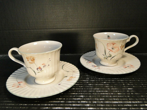 Mikasa Pink Poppy Tea Cup Saucer Sets FL 752 Laslo Classic Elegance 2 | DR Vintage Dinnerware Replacements