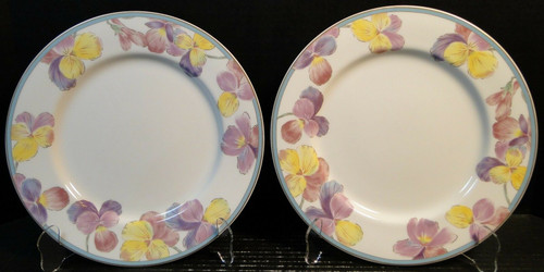 "Mikasa Blossom Festival Dinner Plates 10 1/2"" AL1007 Set of 2 