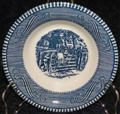 Royal China Currier Ives Blue White Berry Bowl Fruit Dessert | DR Vintage Dinnerware Replacements