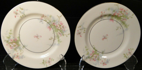 """Theodore Haviland NY Apple Blossom Bread Plates 6 1/2"""" Set of 2 