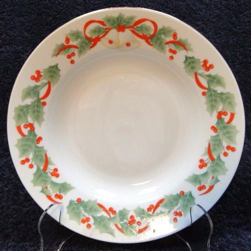 "Sango Noel 8401 Soup Bowl Salad Pasta 7 7/8""  | DR Vintage Dinnerware Replacements"