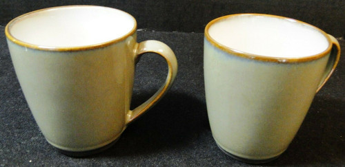 """Sango Concepts Avocado Cups Mugs 4"""" Tall 4940 Set of 2 