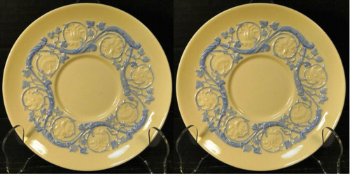 Wedgwood Kingston Blue Patrician Saucers Set of 2 | DR Vintage Dinnerware Replacements