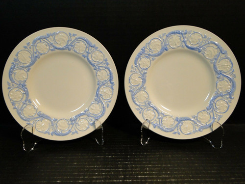 "Wedgwood Kingston Blue Salad Plates 8 1/2"" Set of 2 