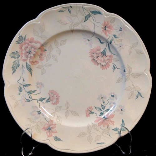 Johnson Brothers Lynton Carnation Dinner Plates | DR Vintage Dinnerware Replacements