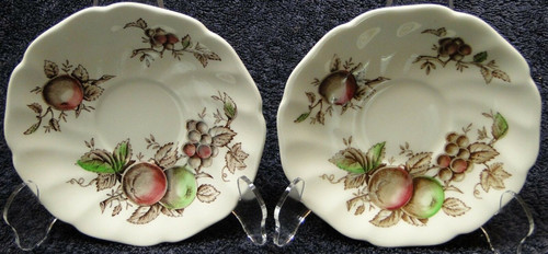 Johnson Brothers Harvest Time Saucers | DR Vintage Dinnerware Replacements
