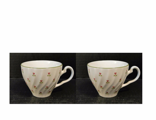 Johnson Brothers Thistle Tea Cups Set of 2 | DR Vintage Dinnerware Replacements