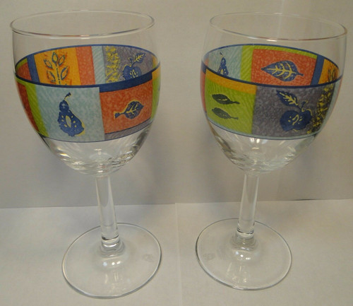 Royal Doulton TrailFinder 10 oz Wine Water Goblets Set of 2 | DR Vintage Dinnerware Replacements
