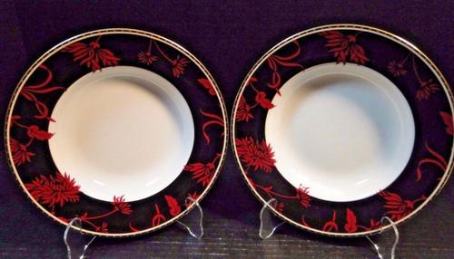 "Royal Doulton Desire Soup Bowls 9"" Set of 2 | DR Vintage Dinnerware Replacements"
