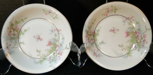 """Theodore Haviland NY Apple Blossom Berry Bowls 5"""" Fruit Dessert Set 2 